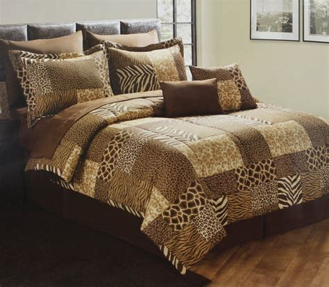 animal comforter sets cheetah quilt designs leopard patchwork print bedding