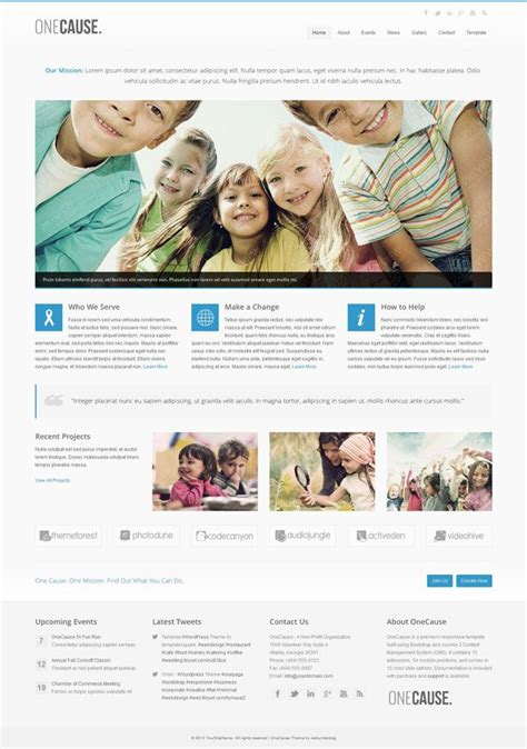 best templates for ngo website onecause responsive charity non profit joomla theme by