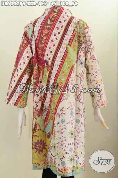 Dress Panjang Murmer sedia baju batik istimewa untuk wanita gemuk harga murmer