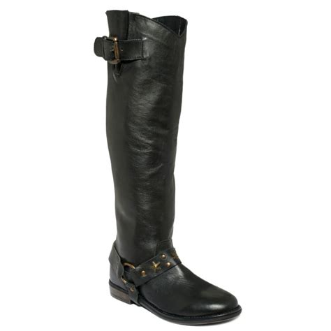 betsey johnson boots betsey johnson leigh harness boots in black lyst