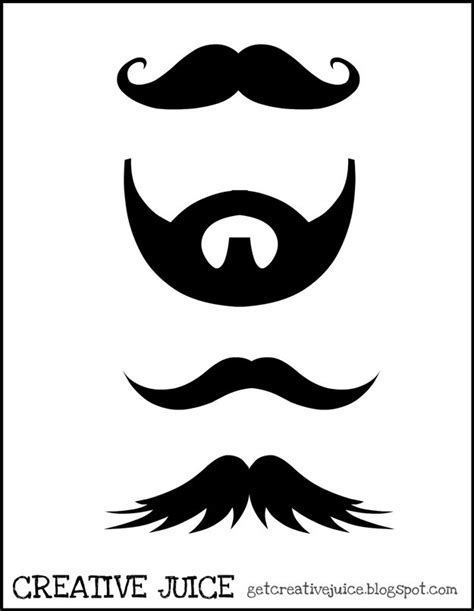15 printable mustache templates and photo booth props custom photo booth props diy projects craft ideas how to