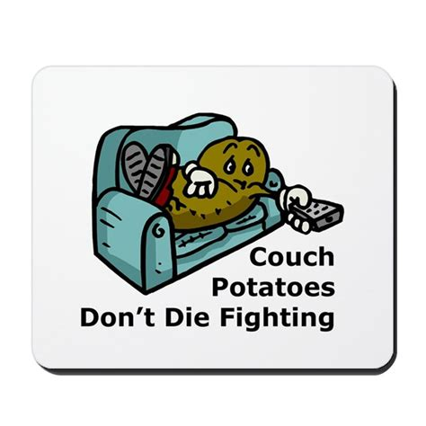 couch mouse pad couch potato fighting mousepad by unclefrog
