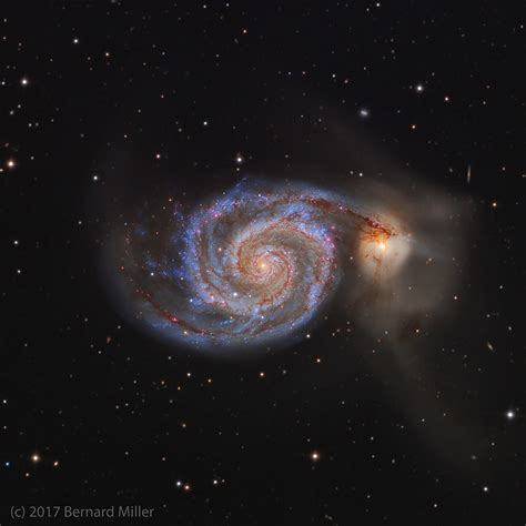 whirlpool galaxy the whirlpool galaxy m51 in canes venatici astronomy