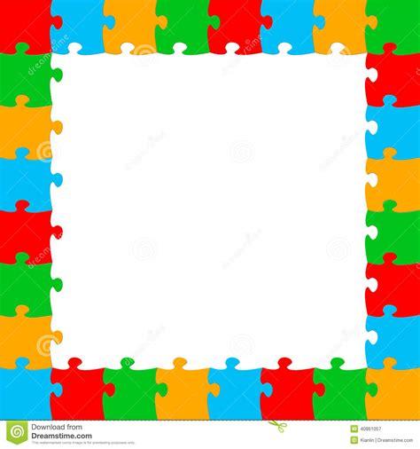 cornici puzzle puzzle frame stock illustration illustration of