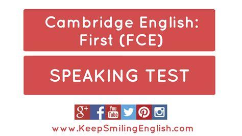 fce speaking test cambridge b2 speaking paper