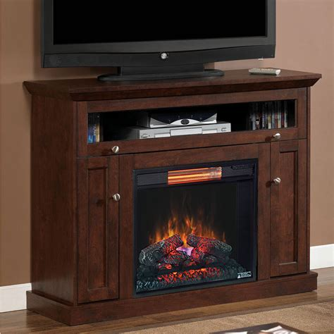 Infrared Electric Fireplace Wall Or Corner Infrared Electric Fireplace Media Cabinet In Antique Cherry 23de9047 Pc81