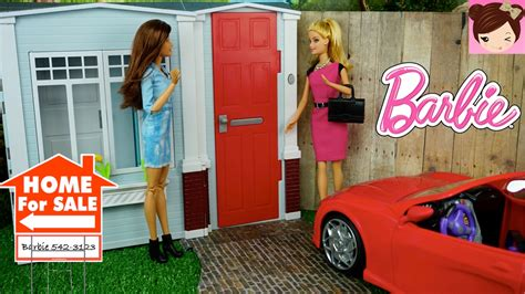 barbie house tour barbie house tour totally real dollhouse playset doovi