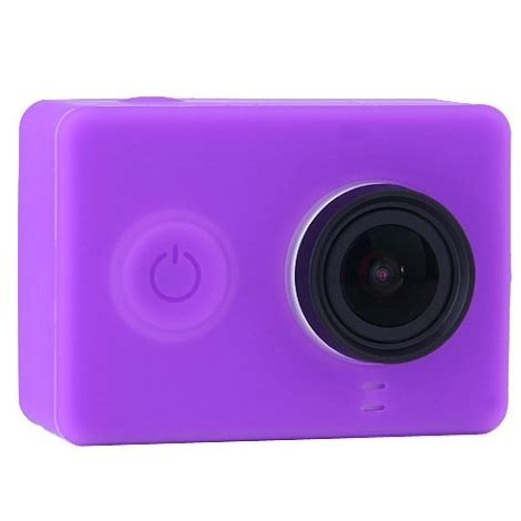 Silicon And Lens Cap For Xiaomi Yi T0210 1 silicon and lens cap for xiaomi yi purple jakartanotebook