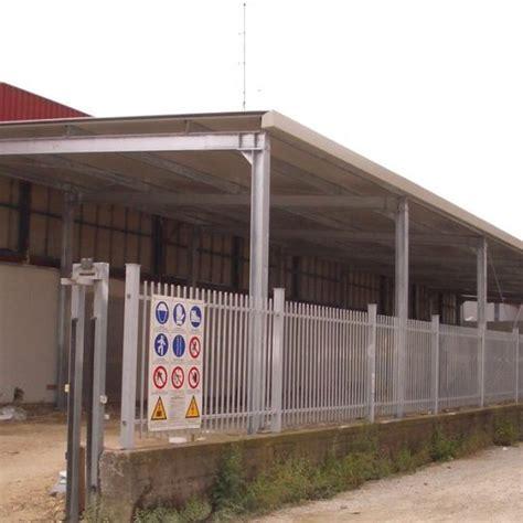 tettoie in acciaio strutture per tettoie progeco strutture