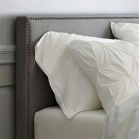 White Cloth Headboard by White Fabric Headboard Tufted Headboard White