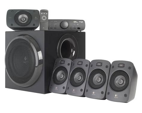 Home Theater Logitech Z906 top 10 best home theater systems in 2018 bass speakers