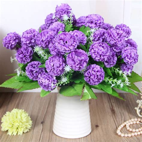 hydrangea home decor diy bridal wedding party bouquet posy silk flowers
