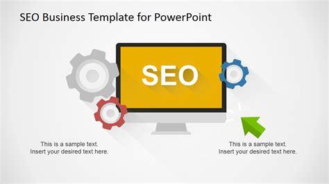 Flat Seo Powerpoint Template Slidemodel Seo Template