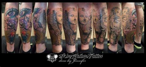 Tattoo Nation Penang | my egyptian half leg sleeve done by jennifer neoh at skin