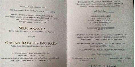 desain undangan pernikahan anak jokowi dipuji undangan pernikahan anak jokowi dicetak tanpa