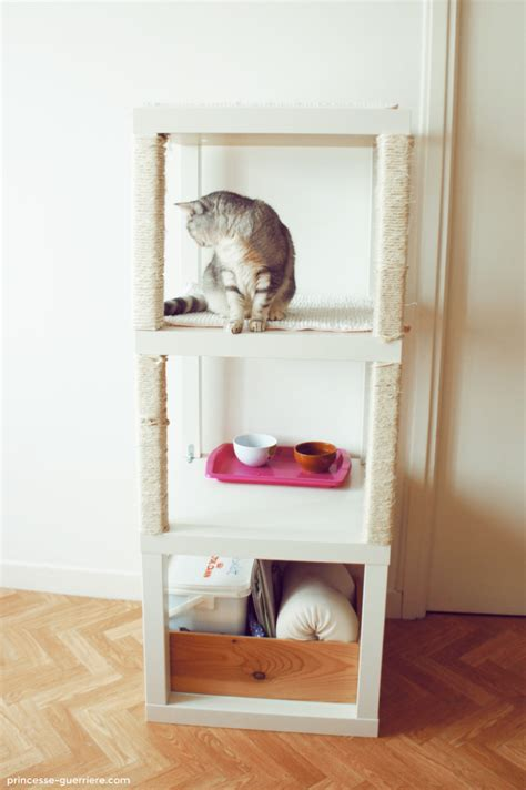 Cardboard Bookcase Cat Tree With Ikea Lack Ikea Hackers