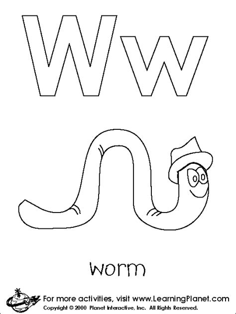 letter w coloring pages preschool letters coloring pages روضة العلم للاطفال