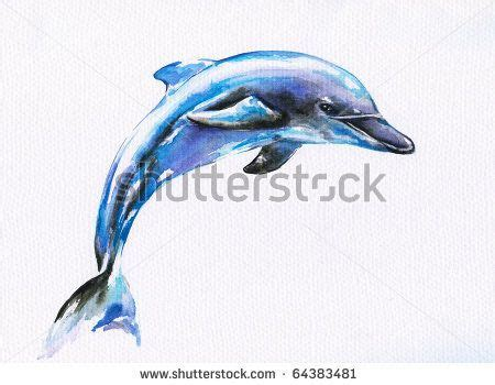 watercolor tattoos dolphin watercolor dolphin jumping blue dolphin watercolor