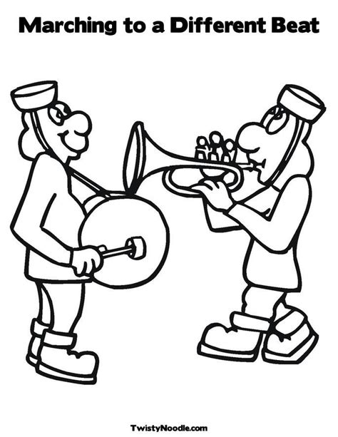 Marching Band Colouring Pages Page 2 Az Coloring Pages Marching Band Coloring Pages