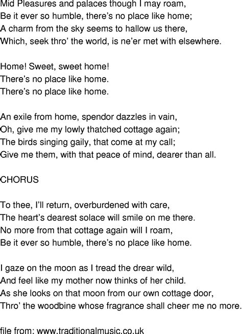time song lyrics home sweet home