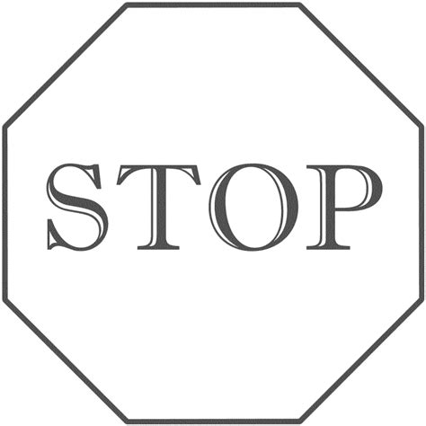 Printable Stop Sign Coloring Page Coloring Home Stop Sign Coloring Page