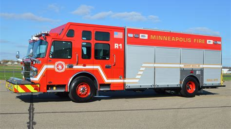 minneapolis rescue minneapolis takes delivery of new rescue truck built by customfire