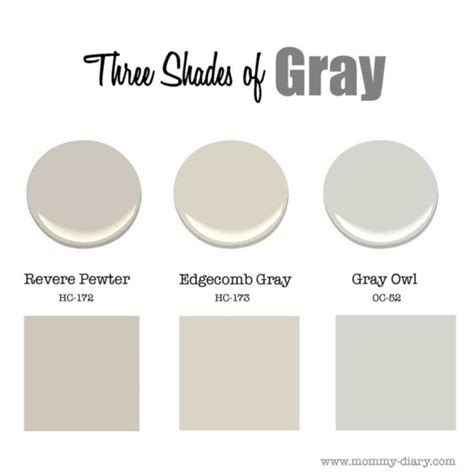 Best Paint To Use On Kitchen Cabinets by Three Shades Of Gray Revere Pewter Amp Edgecomb Gray