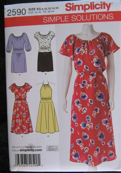 sewing pattern simple dress simplicity dress simple solutions sewing pattern 8 10 12 14 16