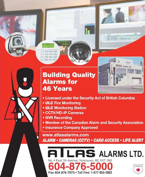 atlas alarms ltd vancouver bc 4 7th ave e canpages