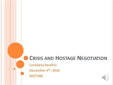 psychological aspects of crisis negotiation books mgt348 crisis and hostage negotiation lserafini final