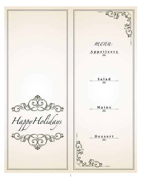 dinner menu templates gala dinner menu template invitations ideas