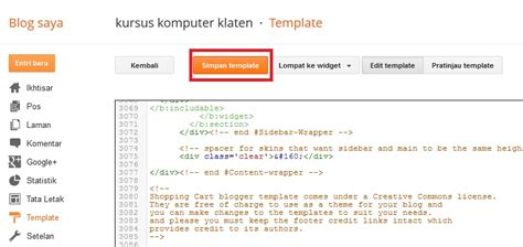 tutorial bahasa xml tutorial blog cara menginstal template di blogspot