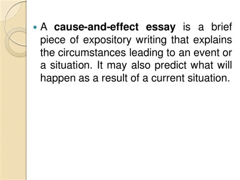 how to write cause effect essay cause and effect essay
