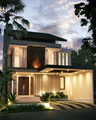 desain eksterior rumah tropis modern desain rumah 2 lantai style modern tropis jasa arsitek
