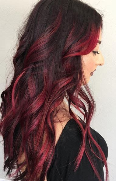 pictures of sapphire black hair with red highlights best 25 red highlights ideas on pinterest hair color