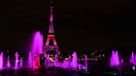 Pink At The by The Eiffel Tower Is Illuminated Pink For The Bca Caign