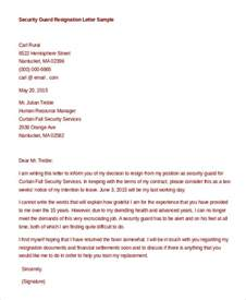 Resignation Letter Sle Security Guard Formal Resignation Letter 11 Free Word Pdf Documents Free Premium Templates