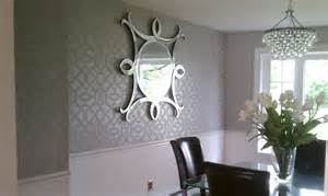 for all things creative dining room wall stencil