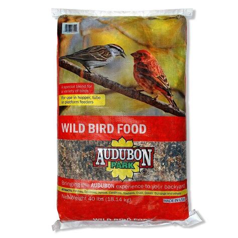 audubon park 40 lb wild bird food 12174 the home depot