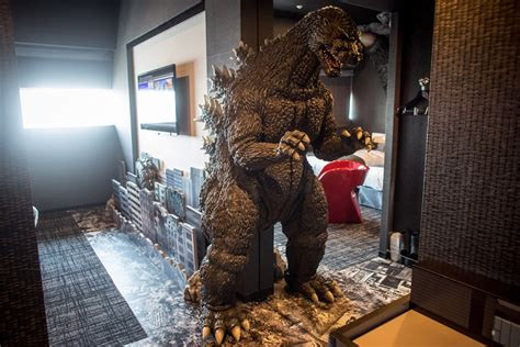 theme hotel tokyo hotel gracery in tokyo is a tribute to godzilla movie
