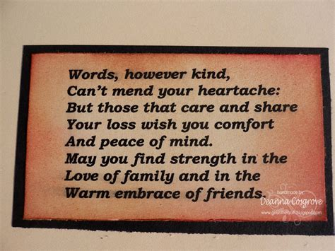 Brief Words Of Comfort Condolence Quotes Search Grief Condolences Funeral Messages Card