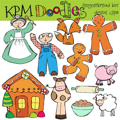 free printable version gingerbread man story gingerbread man story clipart 61