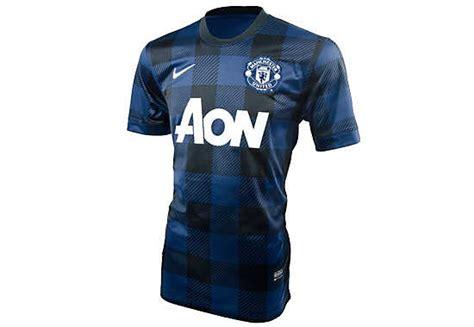 Jersey Mu Aon Blue nike manchester united away jersey 2013 14 utd kit