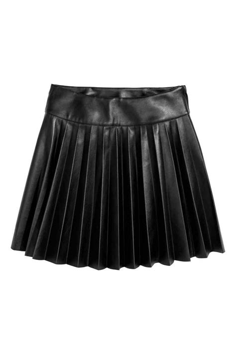 pleated skirt black h m cn