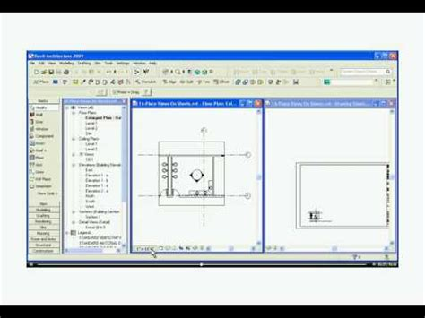 revit easy tutorial easy revit 2009 16 create drawing sheets youtube
