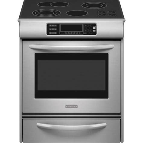 kitchenaid 30 quot slide in electric range kess908sps