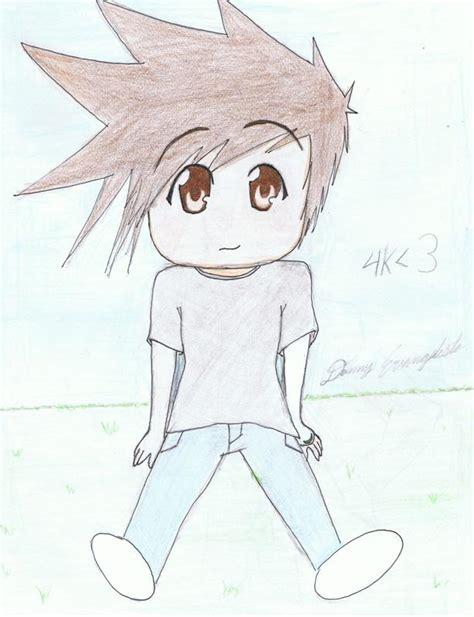 chibi boy drawing
