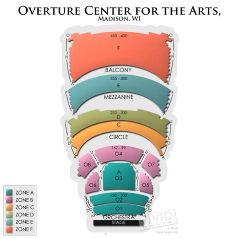 overture center seating overture center overture seating chart seats