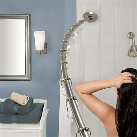 adjustable gripper curtain rod buy the gripper easy install adjustable curved shower rod