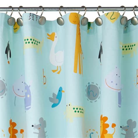 zoological shower curtain kassatex zoo friends shower curtain bloomingdale s